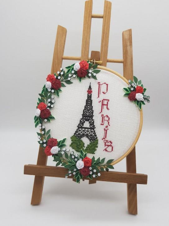 """Stick - Bild """"Paris"""" - Quilling"""