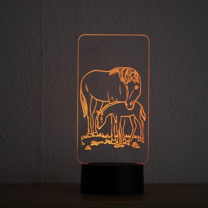 LED-Lampe-Motiv-Pferde_1