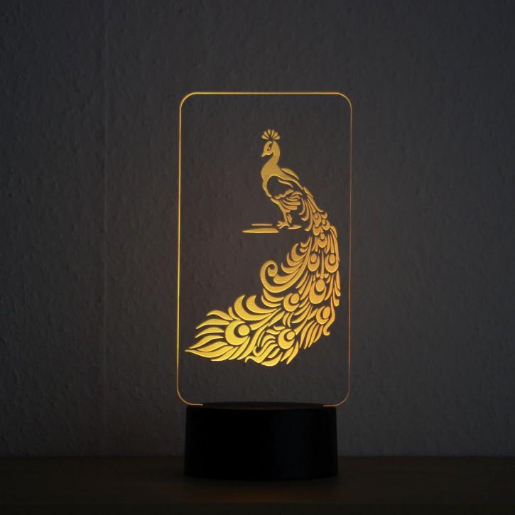 LED-Lampe-Motiv-Pfau_1